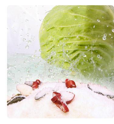 野菜の水分で漬ける