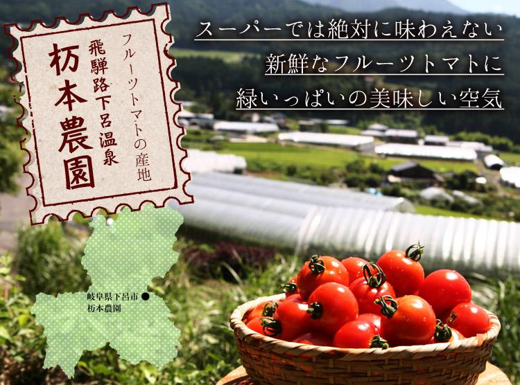 フルーツトマトの産地 飛騨路下呂温泉 杤本農園