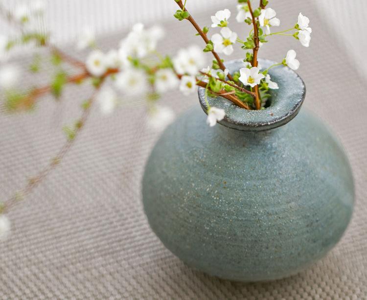 小糸焼 豆花瓶